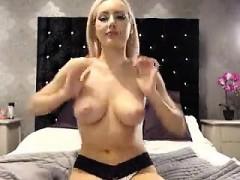 Diamond Foxxx busty blonde loaded with cum on boobs