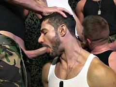 British military studs group Sucking