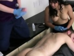 Cuties fuck fellas ass hole with huge strapons and blast cha