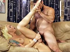 stunning blonde ts aubrey kate makes love with jaxton wheeler