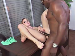 Valerie White Tries Black Cock While Her Bf Watches