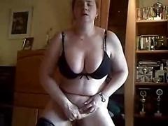 Home Made. Kinky Wife Masturbates Standing