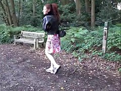 Scarlet mature redheads public flashing and outdoor