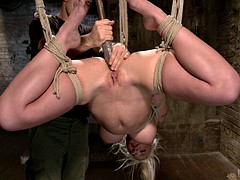 Bondage discipline sadomasochisme, Blond, Pornster, Speelgoed