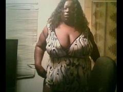 Hot large black ebony teasing