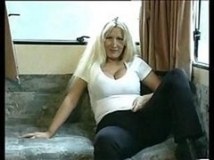 Amateur British mom toys then her moist twat fucked
