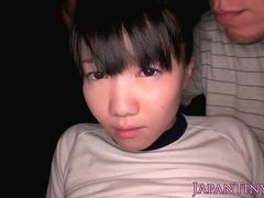 Japanese petite pussyfucked before cumshot