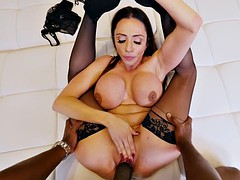ariella ferrera in sexy stockings gets pussy fucked by bbc