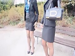 best of julie skyhigh in stockings, fur and miniskirt public