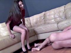 Gorgeous Asian Mistress extreme Ballbusting slave