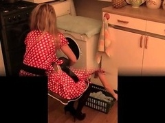 Unshaved pussy kitchen whisk and bottle extreme insertion