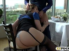 Office tart Dani Daniels gets banged by thick hard dick