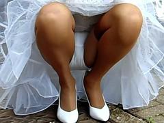Squatting In Stockings