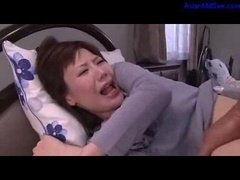 Milf Getting Her Hirsute Vagina Fucked By Man Cum To Tits Sucking cock On The Bed