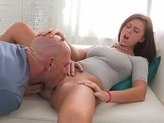 Immature Whitney taking sizeable fuck pole