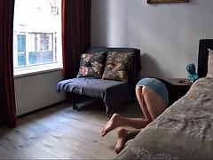 Attrapée, Homme nu et filles habillées, Compilation, Exhib, Hôtel, Public, Voyeur