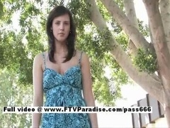 Zeba from ftv broads independent unforgettable brunette gal posing outdoor