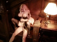Gorgeous MILF bends over for some serious pounding
