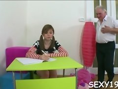 teacher pounds babe senseless amateur movie 3