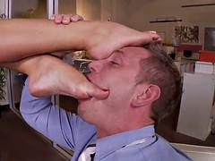 hot ass blonde bitch takes a hardcore fuckin'