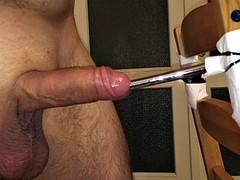 Hard fucking a urethral sound