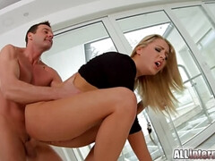 AllInternal Rough anal sex for sexy Christen before creampie