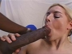 Rebekah Jordan in sizeable, black cock group-fuck