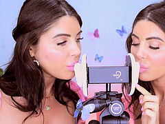 Twins munch and kiss your ears (ASMR)
