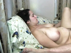 Wifey Gets her Furry Vulva Crammed up with Spunk