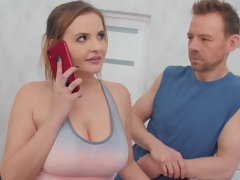 Buxom whore Candy Alexa would do anything to have a hard dick in her!
