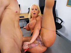 Teacher Alura Jenso Longs For A Hard Meat