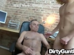 """Weird Dildo Play with Old Dirty Gunther"""